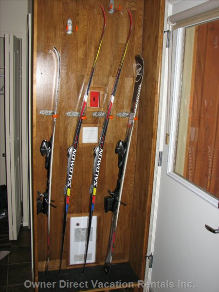 Convenient Custom-Made Ski Rack Will Keep all your Equipment Organized