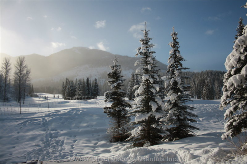 Winter View of the Mountains at Panorama Ski Resort