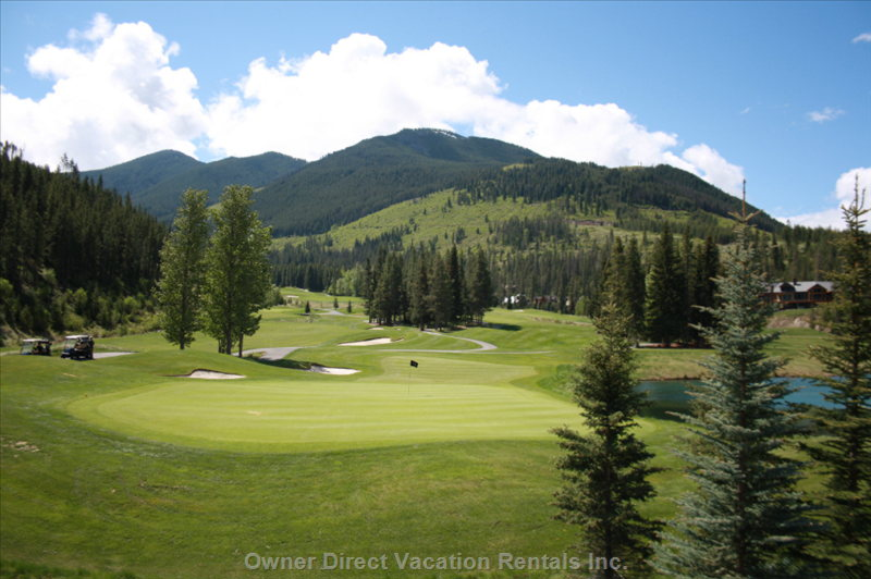 Summer View of the 9th Hole of Greywolf Golf Course