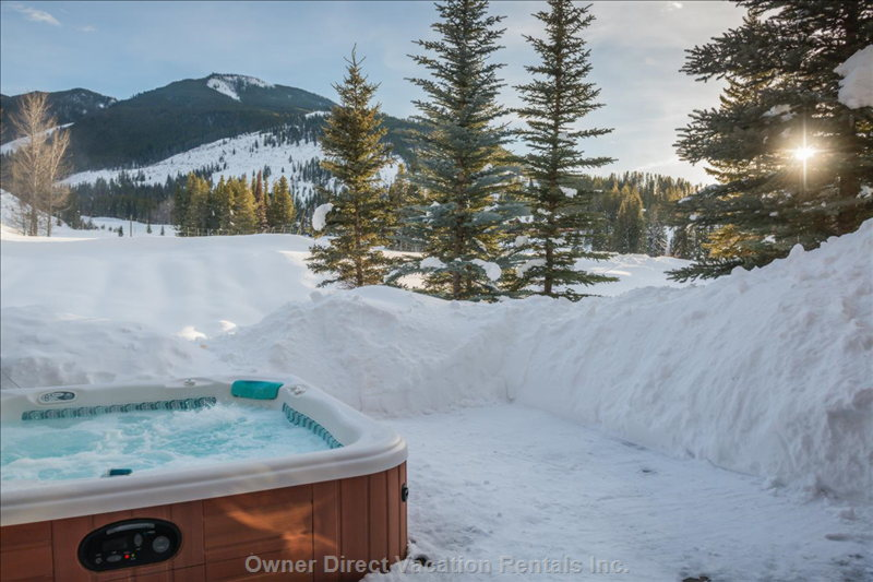 Enjoy this Private View from the Hot Tub!