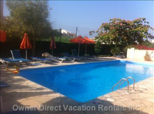 A Swimming-Pool, a Sandy Beach (500 M), a Private Garden, Close Facilities, Make this Apartment a Perfect Holiday Home for Families.