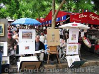 Painters at the Place Du Tertre.