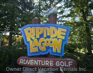 Riptide Lagoon Adventure Golf and Arcade, an Easy 5 Min. Walk from Tanglewood