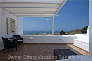 A Large Private Veranda with Unique and Stunning Sea View and Antiparos View