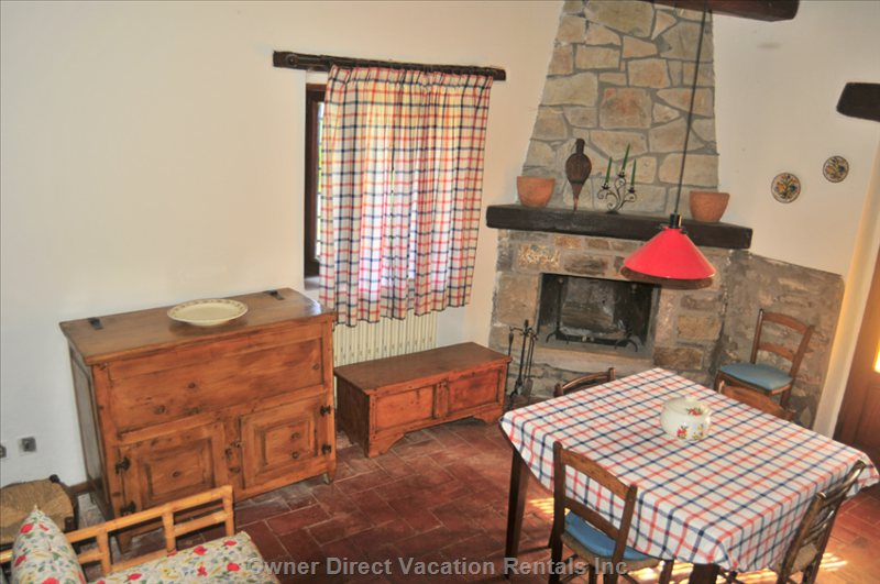 Enjoy a Meal by the Fireplace