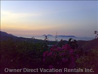 Eolian Islands from Villa  - the Sunset from the Villa, in Front of Eolian Islands