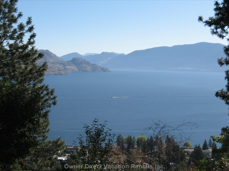 View from Deck Looking South down Okanagan Lake