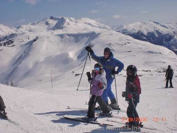 Skiing in Symphony Bowl, Whistler