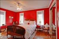 The Red Room - Patterned on the Past... the Red Room Offers a Relaxing Haven to Guests...