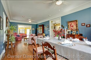 Dining Room - a Formal Dining Room with High Ceilings and Crown Moldings...just Right for Candlelight.