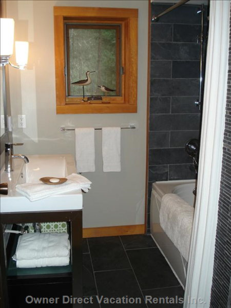 Mian Floor Bathroom  - Heated Slate Tiled Floors