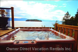 Oceanfront Hot Tub - the Private Oceanfront Hot Tub Provides the Perfect Place for Relaxation.