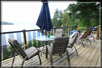 Relaxing Deck - Watch the Eagles, Seals and Deer from the Oceanfront Deck.