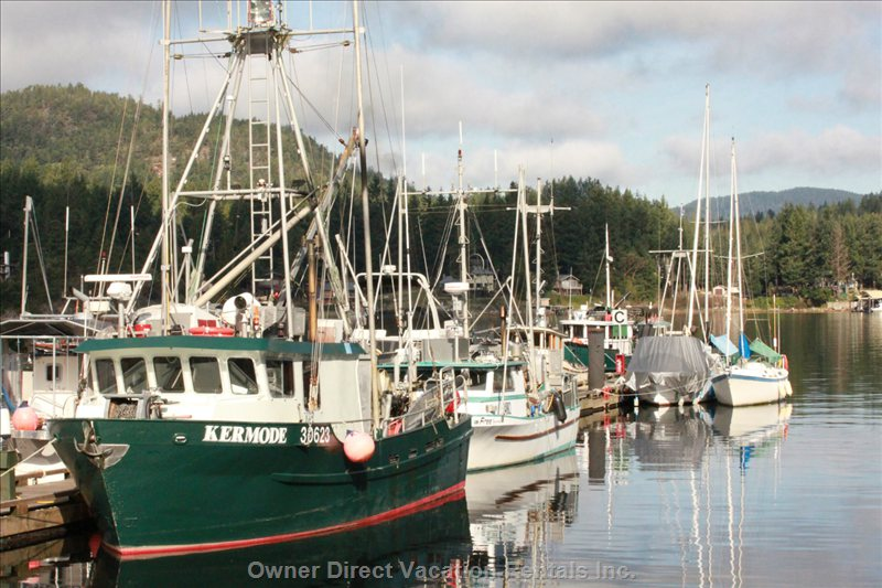 Pender Harbour Marina - some Local Boats at the Pender Harbour Marina. Local Fresh Seafood is Also Available Here.