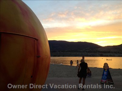 "The Iconic ""Penticton Peach""-Just down the Street"