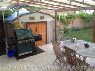 Great Outdoor Covered Deck with Bbq