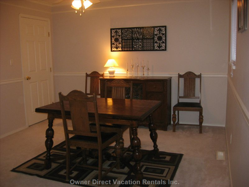 Main Floor Dining Room - another Dining Room, If Guests Need this Space for more Formal Meals.
