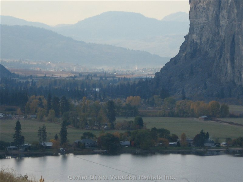 On the Ironman Route: Macintyre Bluff, South on Hwy #97, has Great Hiking  Trails Year round, Leading to the Top and Amazing Views!.
