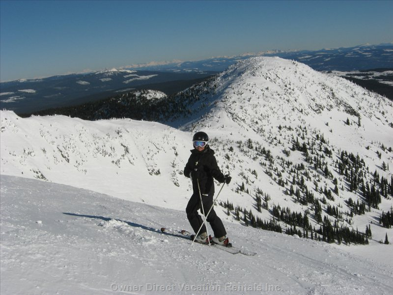 December to April Stay for a Sunnybayestate Winter Vacation and Ski at Apex Mountain Resort: Best Steeps in Canada!
