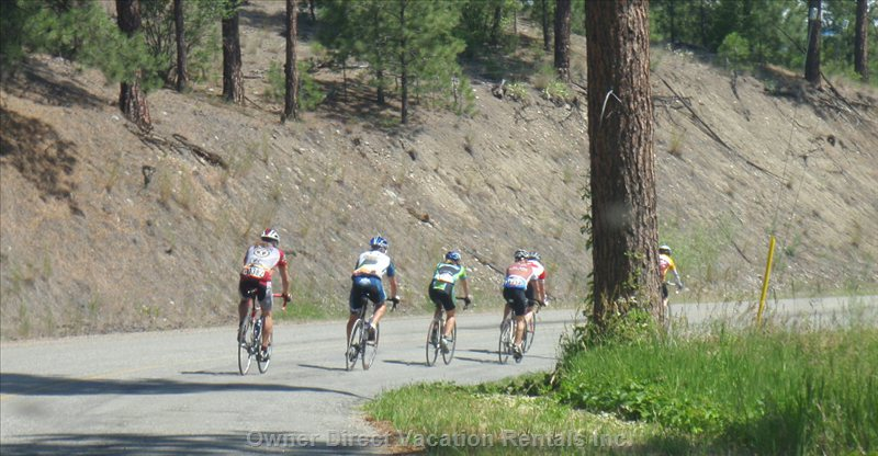 The Granfondo Tours many South Okanagan Backroads.