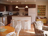 The Kitchen is Fully Equipped and you Will Have Everything to Make Snacks and Holiday Meals.