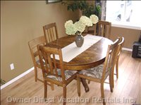 Dining Table with Seating for 6-8