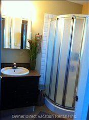 Main Floor Bathroom with Stand up Shower.