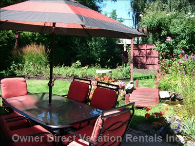 The Patio is Great for Meals, Visiting Or Playing Games during your Holiday Stay. There is Also a Bbq on the Patio.
