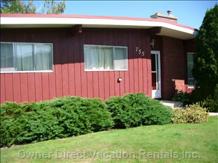 This Cottage is a Classic Post and Beam 1960'S Home.  it is a Great Place to Spend your Holiday in Penticton.