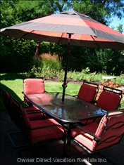 Spring, Summer Or Fall the Patio is a Perfect Place for Relaxing!