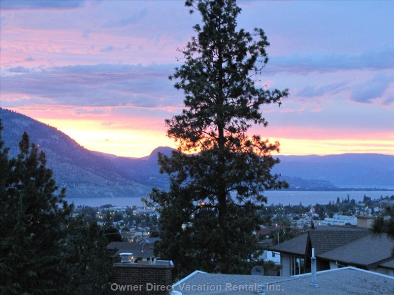 View of Okanagan Lake from Back of Property