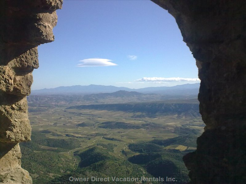 View from Cathar Castles, Tourist Attraction 20 Minutes' Away