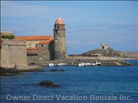 The Beautiful Seaside Town of Collioure, 30 Minutes' Drive Away