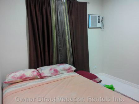 Second Airconditioned Room with one Double Bed & 1 Single Pull out Bed