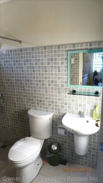 Clean Bathroom with New Fixtures