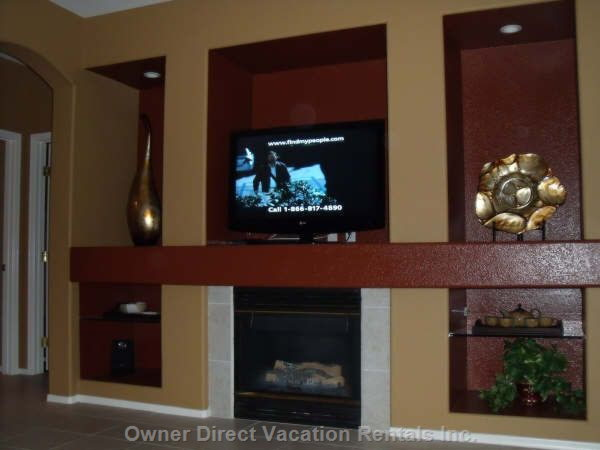 Main Floor Entertainment Unit & Fireplace