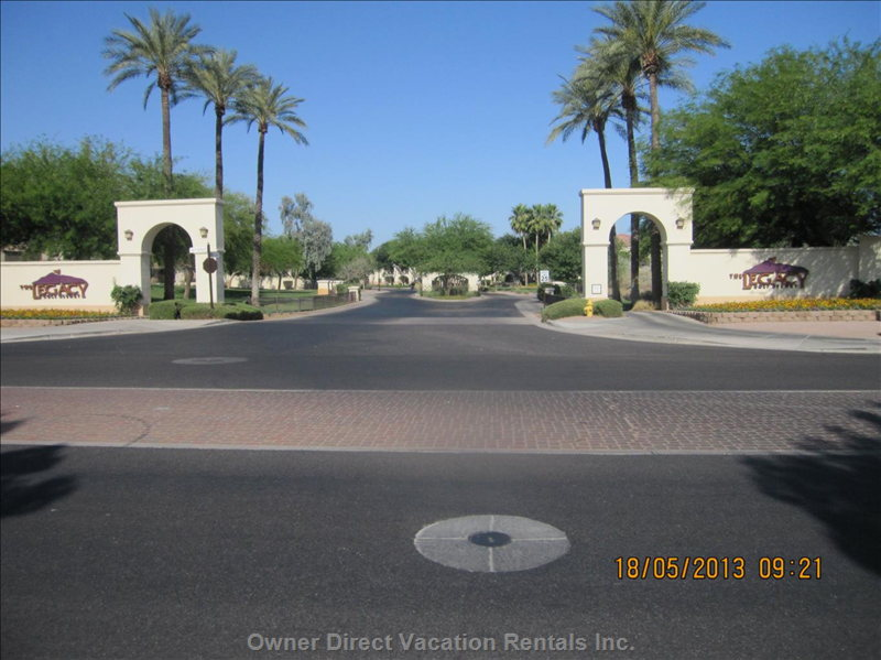 Entrance to Legacy Golf Course & Cachet at the Legacy Condos