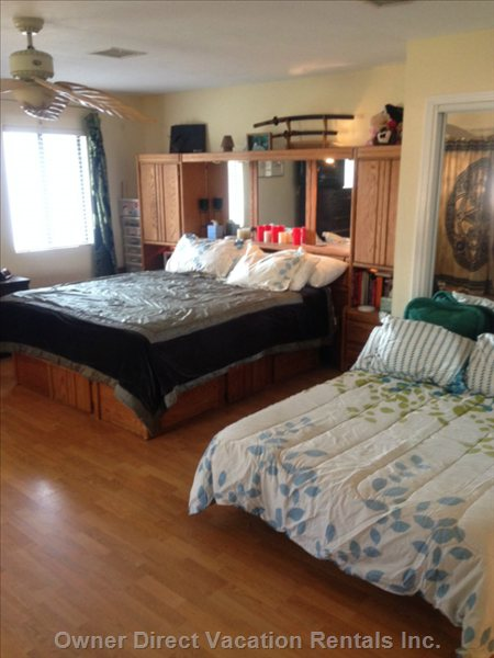 Master Bedroom with King Bed Double Bed Attached Bathroom
