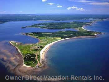 Aerial View of Caribou Island.