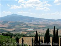 View of the Orcia Valley and Mount Amiata