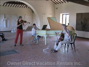 Baroque Music Rehearsal for the Festival 'incontri'