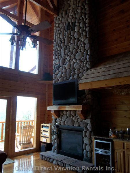 Amazing 34 Foot Fireplace