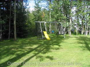 Playground Equipment - Keeps the Children Entertained While you Read a Book Or Relax in the Hot Tub on the Deck.