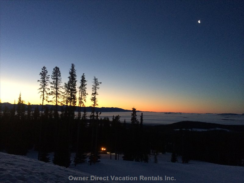 "Actual Morning Sunrise View from our ""on the Slopes"" Home!"