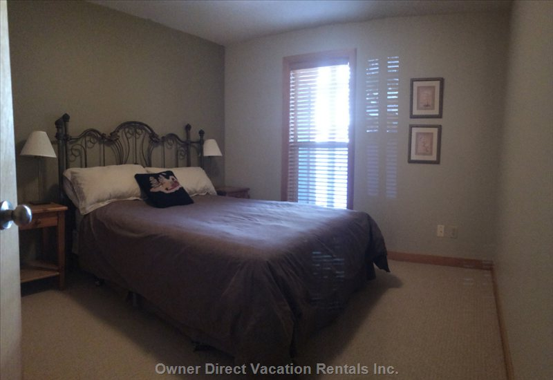 Another Quality Guest Bedroom with Ultra Comfortable Queen Bed, and another Bathroom Right Outside the Room.