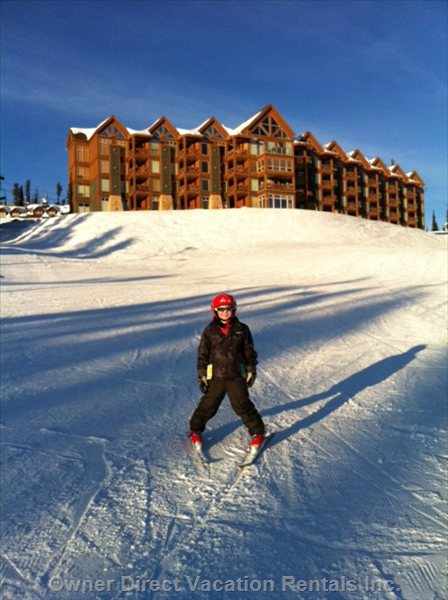 Kids Will Love the Easy Ski Access for Day and Night Skiing to the Plaza Chair, Adults the Two High Speed Chairs Right below our Home!