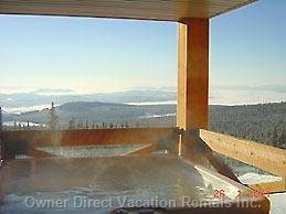 Large Private Hot Tub with Great Views of the Slopes below!