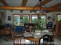 Large Sitting Area - View of the Columbia Valley and Purcell Mountain Range