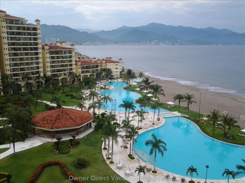 Views of Downtown Puerto Vallarta and the Sierra Madre Mountain Range