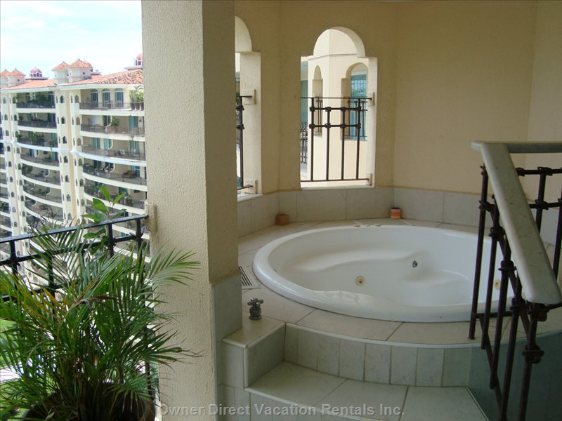 Jacuzzi Tub on Balcony with Ocean Views